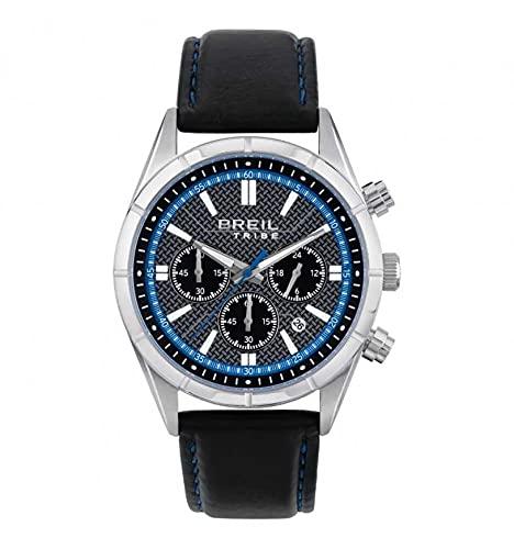 Breil Tribe - Reloj de hombre con crono, cuarzo, correa de piel, EW0526