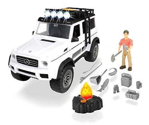 Dickie Toys 203835002 - Playlife Adventure Set, Mercedes Benz AMG Geländewagen inkl. Zubehör, 23 cm