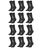 Tommy Hilfiger Herren Classic Business Socken 371111 12Paar, Farbe:Grau;Sockengröße:47-49;Artikel:Socken anthrazit 371111-030