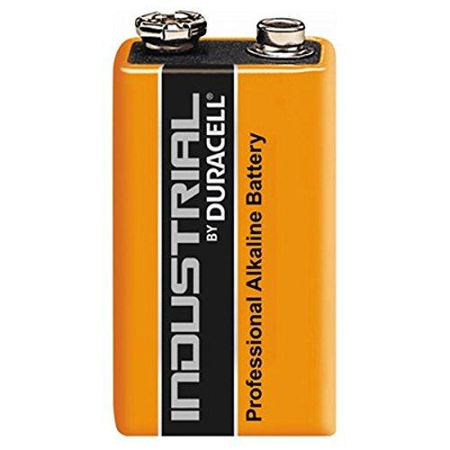 10 x Duracell Industrial / Batterie/ 9V Block-Batterie/ Alkaline/ 6LF22/ Professionelle Alkaline Batterie