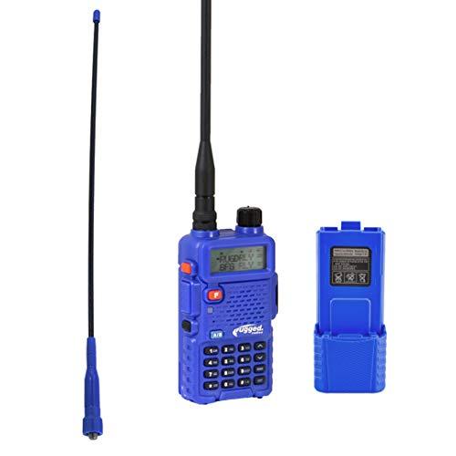 Hand Mic 12 Volt Battery Eliminator and Radio Mount for RH5R Handheld Radio Rugged Radios Trail-Rider Ducky Antenna
