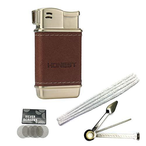 Accendino per pipa Soft Flame Accendini butano ricaricabili Utensili per tubi cechi (Oro I)