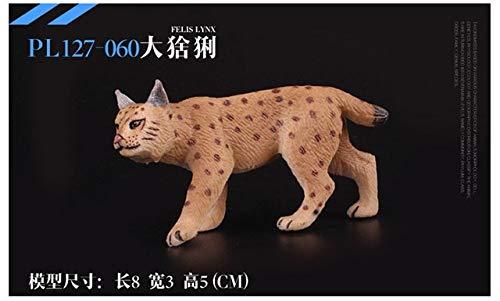 Originele wilde dieren catamount Euraziatische lynx familie sets beeldje kinderen educatieve figuur speelgoed cadeau voor kinderen, Euraziatische lynx