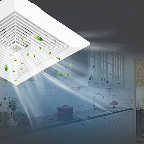 Ventilador de ventilación doméstico Ventilador De Baño, Ventilador De Techo De 10 Pulgadas, Gran Volumen De Aire, Silencioso, Bajo Consumo De Energía LITING