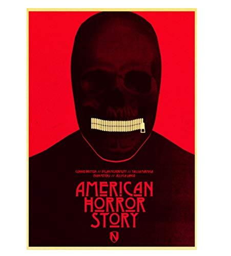LGXINGLIyidian American Horror Story TV Retro Tela Pittura Poster Wall Art Print Adesivi per Soggiorno Pitture Decorative Senza Cornice Z296 40X60Cm