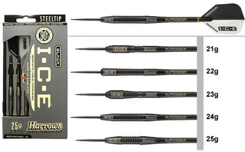Harrows Black Ice 23 Gram Steel Tip Darts 51532 by Harrows