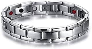 Medical energy bracelet with magnet stone and germanium to get rid of electrical charges in body and balance for unisex