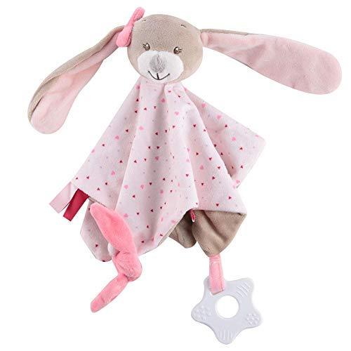Manta de seguridad para bebé, 0-36 meses manta de seguridad para confort de bebé manta de dormir relajante toalla para bebés toalla de saliva(Rabbit)