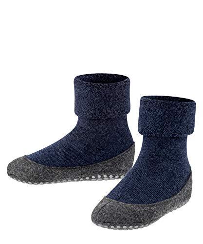 FALKE Unisex Kinder Hausschuh-Socken Cosyshoe, Schurwolle, 1 Paar, Blau (Dark Blue 6680), 25-26 (3-3.5 Jahre)