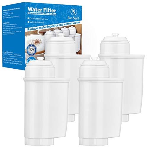 Wasserfilter für Siemens EQ 6/9 TZ70003, TÜV Kaffee Ersatz Filter für Brita Intenza, Bosch TCZ7003 TCZ-7003 TCZ7033 Bosch 12008246 467873 usw. (4er Pack), für verbessern des Kaffeegeschmacks