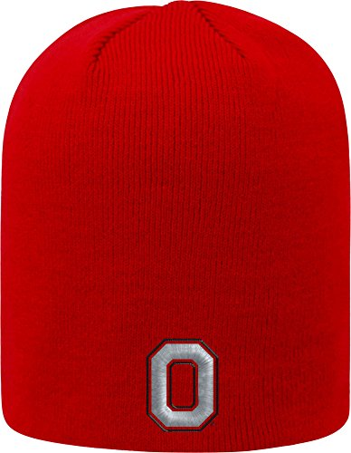 Top of the World Ohio State Buckeyes Men's Team Color Classic Knit Team Icon, One Fit