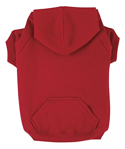 Zack & Zoey Basic Hoodie for Dogs, 24' X-Large, Tomato Red