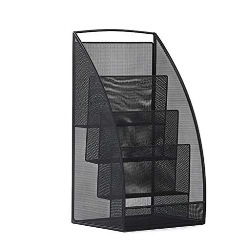 LPYMX Zeitungsständer Schreibtisch des einfachen Bücherregals des Büros schmiedeeiserner Zeitungsständer Zeitungsständer Booth