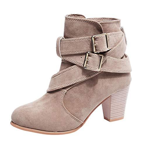 Vovotrade Damesschoenen, Martain laarzen, wildleer, laarzen met hoge hak