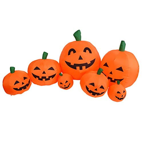 Kürbis Patch Aufblasbare Halloween Dekoration Herbst Ernte Kürbis LED Lichter 2,2m hoch