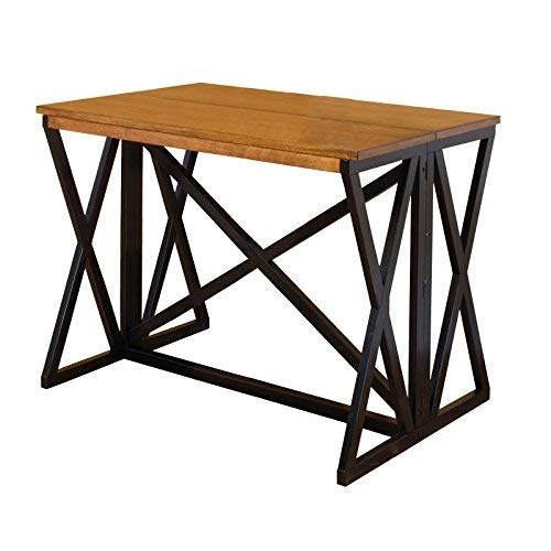 Intercon Siena Breakfast Bar, Black/Cider Finish