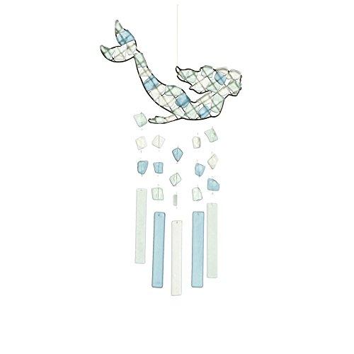 MIDWEST-CBK Peaceful Sea Glass Wind Chime (Mermaid Swimming)