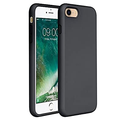 """Miracase iPhone 8 Silicone Case, iPhone 7 Silicone Case Liquid Silicone Gel Rubber Case Full Body Protection Shockproof Cover Case Drop Protection for Apple iPhone 7/ iPhone 8(4.7"""") (Black)"""