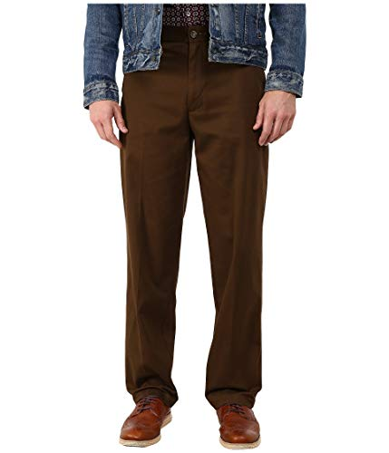 Dockers Comfort Khaki Stretch Relaxed Fit Flat Front Lumber 33 34