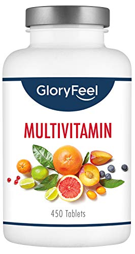 Multivitamins & Minerals - 450 Vitamin Tablets (15 Months Supply) - High Dose Multivitamin for Men & Women - Immunity Supplements with All Essential Active Vitamins and Minerals A-Z