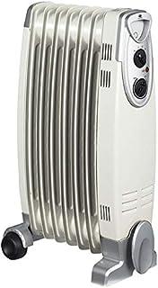 Alpatec BH2-25 - Radiador de aceite (2500 W, 48 x 64,5 x 16 cm), color blanco y plateado