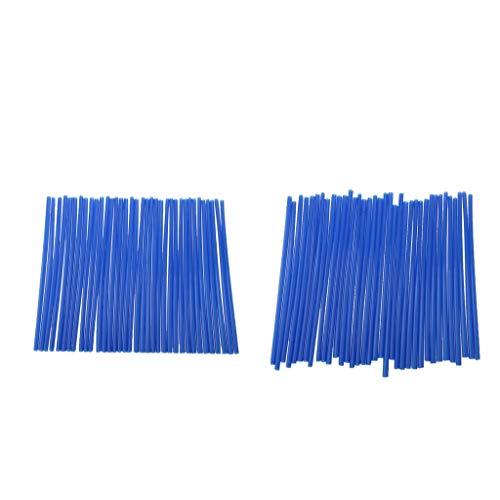 KESOTO 72x Universal Motorrad Speichencover Felgen Speichen Skins Spoke Tube, Länge 17cm, Blau