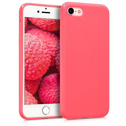 kwmobile Cover Compatibile con Apple iPhone 7/8 / SE (2020) - Cover Custodia in Silicone TPU - Backcover Protezione Posteriore - Corallo Neon Matt