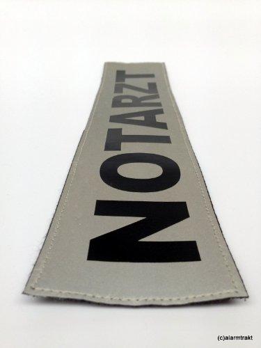 NOTARZT 3M Rückenschild 38x8cm matt silber