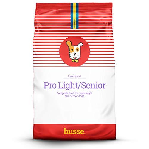 Husse - Pro Light/Senior| Pienso para Perros | Perros con Sobrepeso | Función Dietética y Gastrointestinal | Sabor Cerdo y Salmón | Alta Callidad de Ingredientes