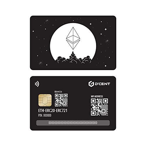 Carteira de hardware de criptomoeda D'CENT, tipo de cartão, carteira Ethereum e ERC20