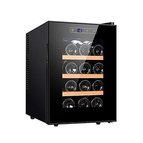 12 Bottle Wine Cooler Dual Zone Built in or Freestanding Fridge Wine Refrigerator with Compressor Cooling System Tempered Reversible Glass Door Silent shock absorption
