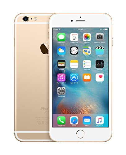 Apple iPhone 6s Plus Smartphone (13,9 cm (5,5 Zoll) Bildschirm, Plus 16GB interner Speicher, IOS) gold (Generalüberholt)