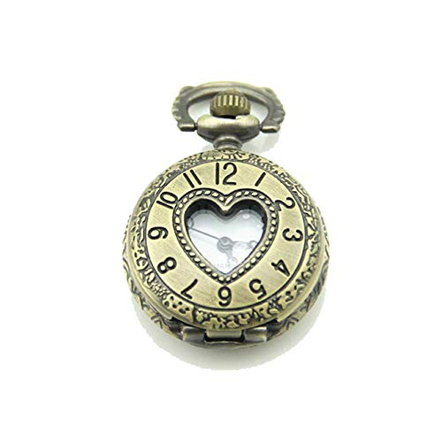 Reloj De Bolsillo Reloj De Bolsillo Retro del Amor Colgante Hueco Collar De Reloj De Bolsillo Conveniente para La Ocasión Ocasionales Y del Negocio (sin Cadena)