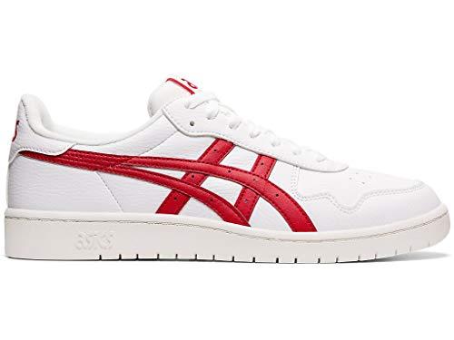 ASICS Men's Japan S Fashion Sneakers White/Speed Red 10.5
