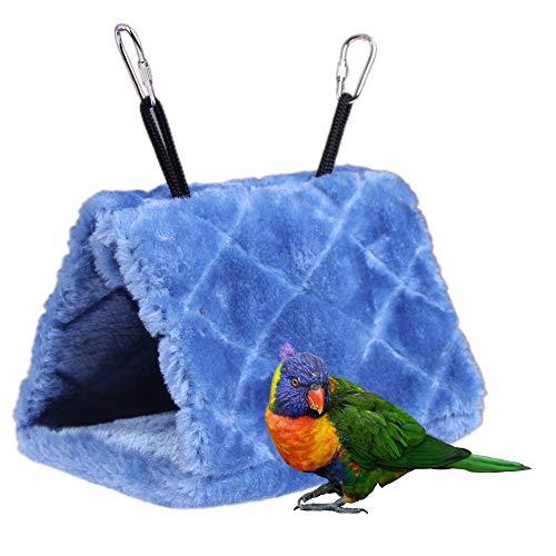 NELNISSA huisdier vogel Nest huis papegaai Budgies opknoping grot hangmat parkiet kaketoe Canarische liefhebber vink kooi speelgoed in de winter warm (blauw)