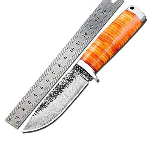 Handgefertigt Gürtelmesser AUS feststehende Klinge Fahrtenmesser Jagdmesser Survival Messer kampfmesser Bogensport mit Leder Scheide