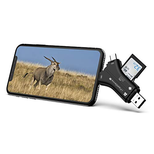 Campark Trail Camera Viewer Compatible with iPhone iPad Mac or Android, SD and Micro SD Memory Card Reader to View Wildlife Game Camera Hunting Photos or Videos on Smartphone