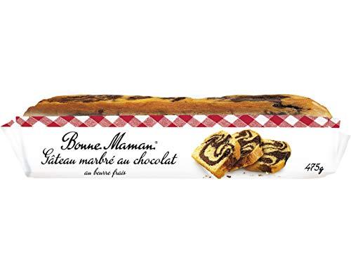 Bonne Maman Gâteau marbré au chocolat au beurre frais - Le paquet de 475g