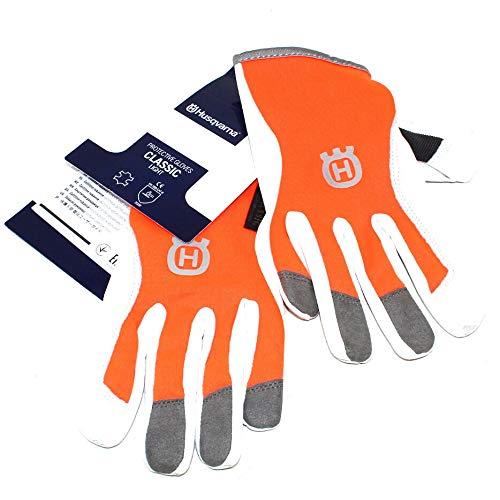 Husqvarna - Guantes de trabajo de piel de protección, ligeros, talla 7; excelente agarre y comodidad