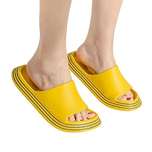 Anlemi Zapatos de Playa Piscina Unisex Adulto,Use Pantuflas de Suela Gruesa,Pantuflas de baño Antideslizantes para el hogar-Yellow_35-36,Ultraligero cómodo y Antideslizante