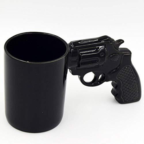 Personalisierte Tasse Kreative Revolver Tasse neue Pistole Tasse Pistolenform Tasse Keramik Tasse-schwarz_301-400 ml