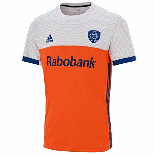 adidas Herren Niederlande T-Shirt Trikot, Supora/Eqtblu, L/L