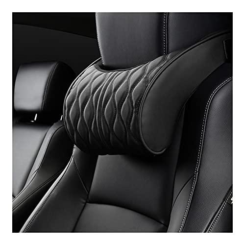Almohada para el cuello del coche Memoria de espuma de cazadora de cazadora de cuero de cuero de almohada Soportes de asiento bordados conjuntos Ajuste de cojín trasero Auto cuello de reposo Almohadas