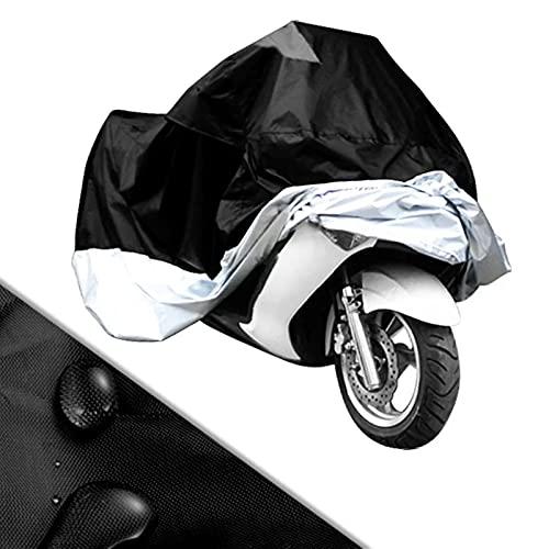 LIXIAONMKOP Tissu 190T Couvercle de moto universel de la moto imperméable Scooter à la poussière de l'étanche Couvre UV Résistant à la neige Peva Heavy Racing Bike Housse de moto