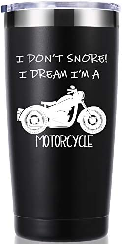 Biker Tumbler I Don t Snore I Dream I m A Motorcycle 20 OZ Tumbler Grandpa Gifts Birthday Christmas product image