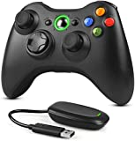 Dhaose Wireless Controller per Xbox 360 e PC, 2.4GHZ Gamepad Enhanced Joystick Joypad Remote per Xbox e Slim 360 PC Windows 7, 8, 10
