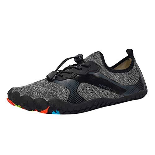 TWISFER Herren Barfußschuhe Fitnessschuhe Laufschuhe Minimalistische Traillaufschuhe Trekkingschuhe Wanderschuhe Outdoor Sneaker im Sommer