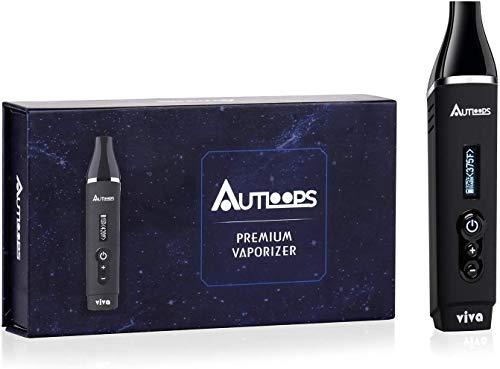 Autloops Viva Dry herb Vaporizer Starter Kit Herbal Vape Pen with 2200mAh Battery Ceramic Chamber Temperature Adjustable 135℉/°C Settings
