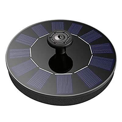 FYLINA Solar Fountain Pump Free Standing Floating Solar Powered Fountain Pump with 4 Nozzle for Birdbath, Outdoor Floating Solar Water Fountain for Small Pond, Pool, Fish Tank, Aquarium,Garden,Patio