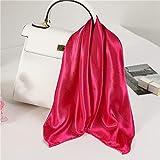 YUNYUN Bufanda de Seda de Verano para Mujer, diseño sólido, pequeñas Bufandas...